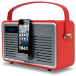 View Quest Red DAB Retro Radio with 8 pin dock