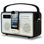 View Quest Black DAB Retro Radio with 8 pin dock