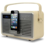 View Quest Cream DAB Retro Radio with 8 pin dock