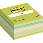 Post it Neon Blue Cube 76mm x 76mm 1 cube per pack
