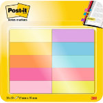Post it Page Markers 670 10AB Assorted colours Clear No 127 x 437 mm 127 x 444 mm