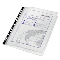 Snopake Polypropylene Document Wallets Punched 5 Pack