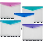 Snopake Ring Binder Wallets Assorted Polypropylene 25 x 31 cm