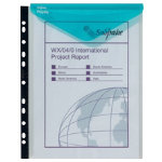 Snopake A4 high capacity punched ringbinder wallets 5 pack