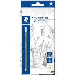 Staedtler Noris Eco HB Eraser Tip Pencil Pack 12