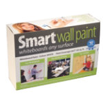 Smart wall paint whiteboard kit 6 metres squared White