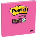 Post it Super Sticky Notes 6546SP Red 76 x 76 mm 80gsm