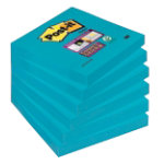 Post it Super Sticky Notes Super Sticky Electric Blue Plain 76 x 76 mm