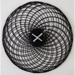 Black Wire Wall Clock