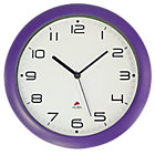 Alba Easytime Clock Purple 300mm Diameter