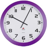 The Giant Clock by Alba Purple 600mm Diameter