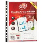 Pukka Stud Wallet Pocket Punched A4 Clear 100 Polypropylene