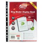 Pukka Filing Polypropylene Display Book A4 Clear