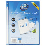 Pukka Filing Presentation Display Book 20 Pocket A4 Blue