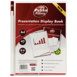 Pukka Filing Presentation Display Book 40 Pocket A4 Clear