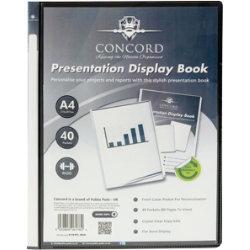 Pukka Filing Presentation Display Book 40 Pocket A4 Black