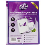 Pukka Filing Presentation Display Book 40 Pocket A4 Purple