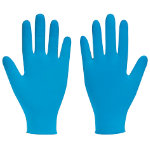 Bodyguards 4 Blue Nitrile Powdered Disposable Gloves small