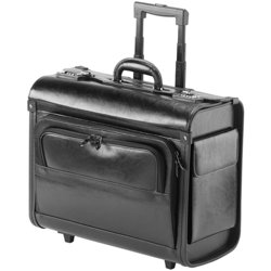 Falcon Leather 17 inch Laptop Pilot Case