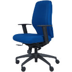 React2 high back office chair in blue