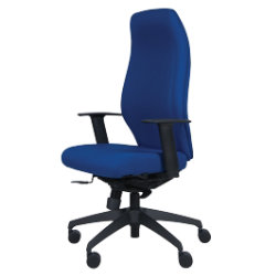 React2 extrahigh back office chair in blue
