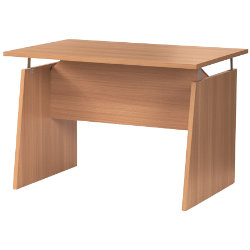Stewart Superior Duet straight office desk 1150mm in beech-effect
