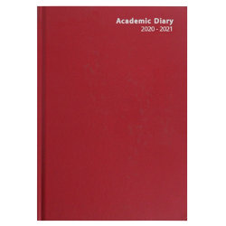 Niceday Academic Diary A4 Day a Page Red