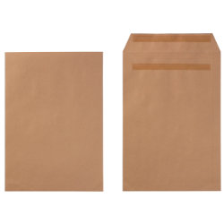Office Depot Self Seal Manilla Envelopes  Plain C4 90gsm  Box of 250