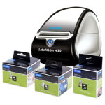 DYMO LabelWriter 450 Bundle x3 Label Rolls  FREE Dymo LabelWriter 450