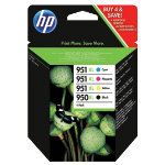 HP 950XL 951XL Original Ink Cartridge C2P43AE Black 3 Colours Pack 4