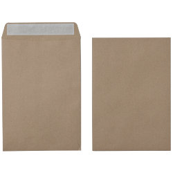 Office Depot Recycled Peel and Seal premium Plain Envelopes 115gsm Brown 305 x 250mm Box of 250