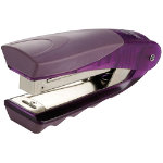Rexel Centor Vertical Stapler Half Strip Capacity 20 Sheets Transparent Purple