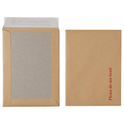 Office Depot Peel and Seal Board Back Envelopes 190 x 140mm 115gsm Box 125 Manilla