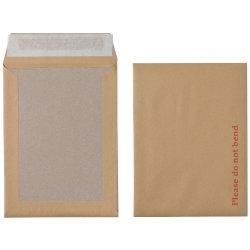 Office Depot Peel and Seal Board Back Envelopes 241 x 178mm 115gsm Box 125 Manilla