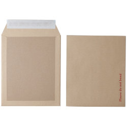 Office Depot Peel and Seal Board Back Envelopes 318 x 267mm 115gsm Box 125 Manilla
