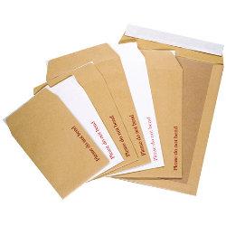 Office Depot Peel and Seal Board Back Envelopes 444 x 368mm 115gsm Box 50 Manilla