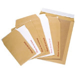 Office Depot Peel and Seal Board Back Envelopes 444 x 368mm 115gsm Box 50 Manilla