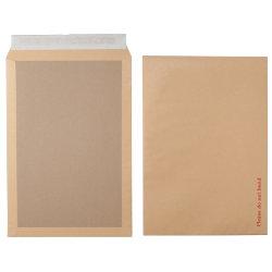 Office Depot Peel and Seal Board Back Envelopes 367 x 440mm 115gsm Box 50 Manilla