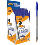 Bic Cristal Large Ballpoint Pen Broad Tip Blue Pack of 50