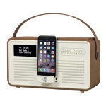 View Quest DAB  Radio with Bluetooth Retro Radio MKII Brown