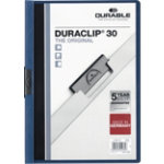 Durable Duraclip 3mm Folder Dark Blue