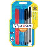 Paper Mate Ballpoint Pen InkJoy 100 Black Blue Red Pack 8