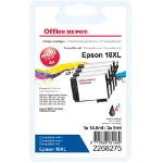 Office Depot Compatible Epson Ink Cartridge 2268275 Black Cyan Magenta Yellow 4 pieces