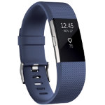 Fitbit Activity  Sleep Tracker Charge 2 Large Blue Silver