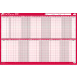 Sasco 2017 Unmounted Staff Planner 610 x 915 mm