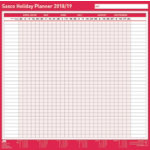 Sasco 2017 Unmounted Holiday Planner 420 x 750 mm