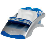 Visifix Desk Business Card File Blue Silver