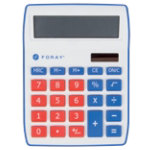 Foray Desk Display Calculator Generations Red