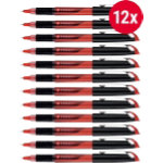Foray Comfort Point Needlepoint Stick Pen 03 mm Red Pack 12