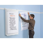 Legamaster 1080x750mm Flipchart Wall Rail for Legaline Professional
